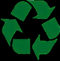 Recycle logo black background